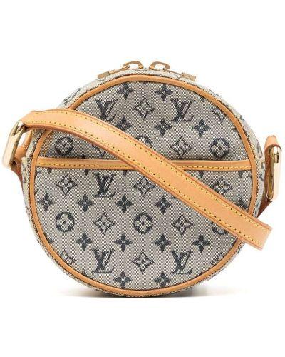 Кожаная сумка через плечо с накладными карманами винтажная Louis Vuitton