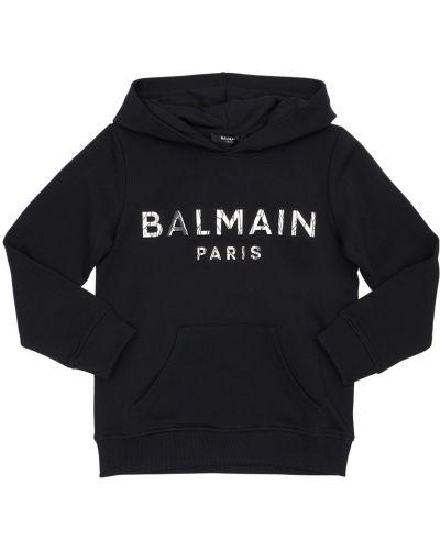 Худи с капюшоном - черное Balmain