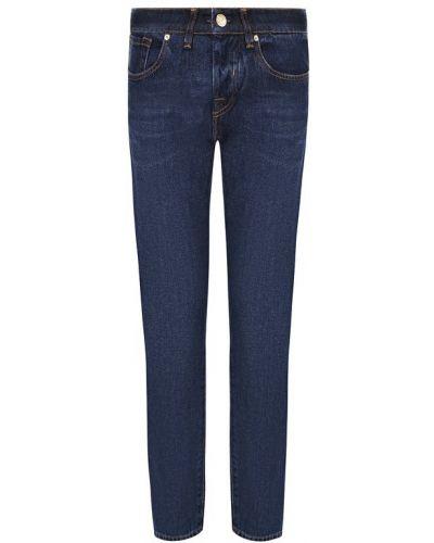 Укороченные джинсы с эффектом потертости Two Women In The World