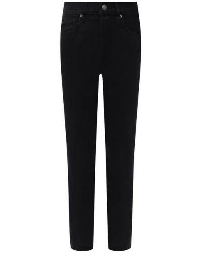 Хлопковые джинсы - черные Frame Denim