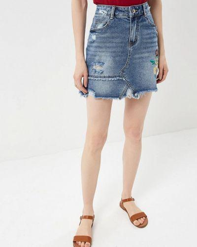 Синяя джинсовая юбка Miss Bon Bon