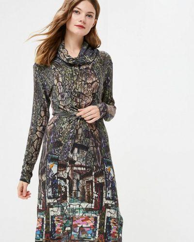 Платье осеннее зеленый Vemina City Lisa Romanyk