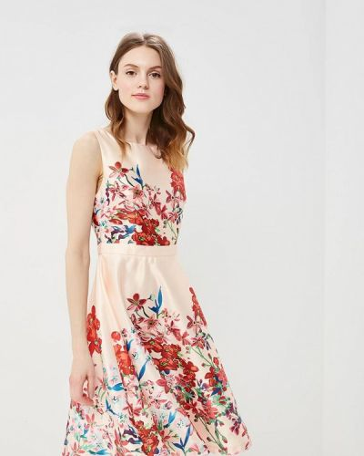 Бежевое прямое платье Soky & Soka