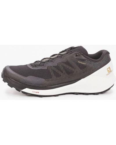 Кожаные кроссовки - черные Salomon