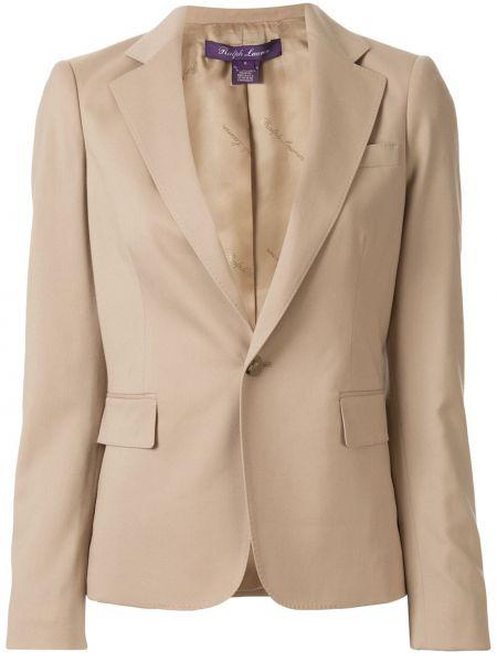 С рукавами коричневая куртка на пуговицах Ralph Lauren Collection