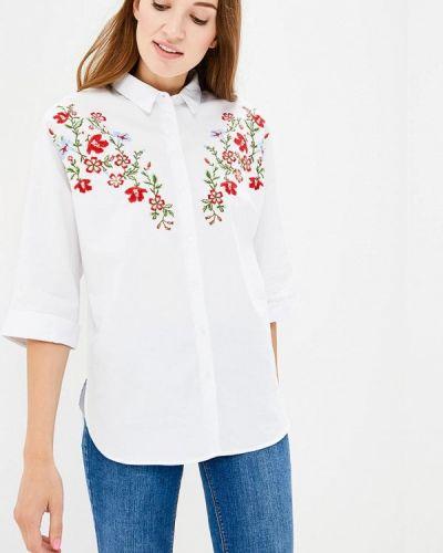Белая блузка с коротким рукавом Zarina