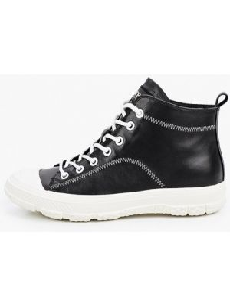 Черные высокие кроссовки из натуральной кожи Berkonty
