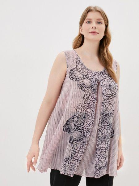 Блузка без рукавов розовая весенний Amarti