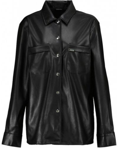 Черная кожаная куртка Rta