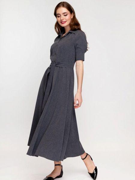 Платье серое платье-рубашка Gregory