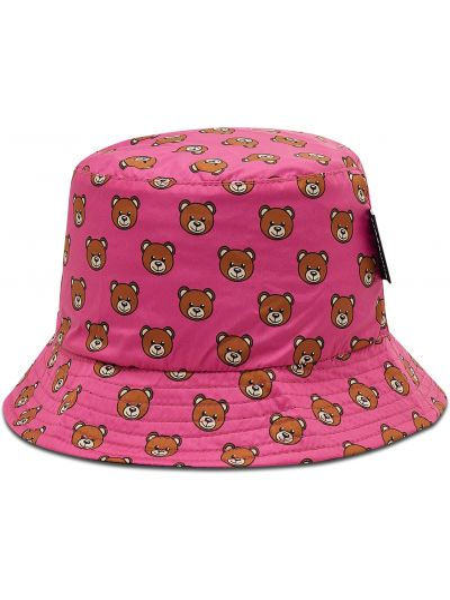 Różowy kapelusz Moschino