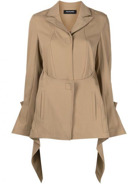 Пиджак с открытой спиной - коричневый Kiko Kostadinov