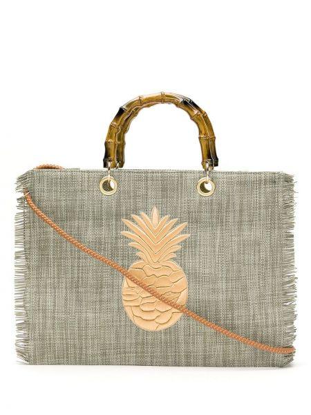 Золотистая серая сумка-тоут с подкладкой Isla