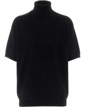 Кашемировый черный свитер Brunello Cucinelli