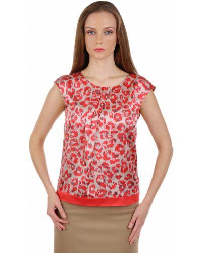 Блузка шелковая красная Luisa Cerano