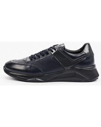 Кожаные синие низкие кроссовки Roberto Piraloff