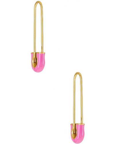 Różowe złote kolczyki sztyfty Baublebar