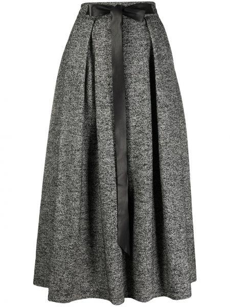 Черная с завышенной талией плиссированная юбка миди Department 5