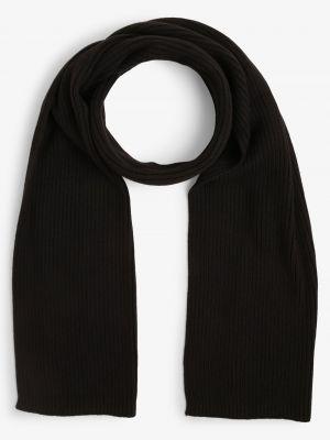 Prążkowany z kaszmiru czarny szalik Calvin Klein