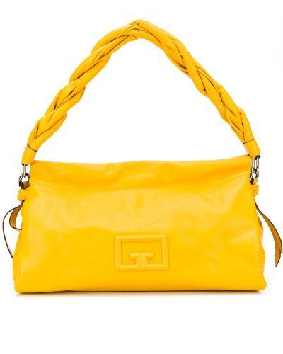 Желтая кожаная сумка Givenchy