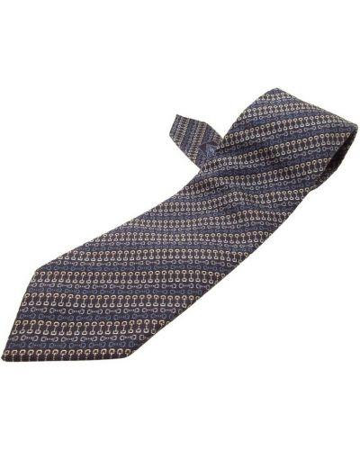 Krawat z jedwabiu - niebieski Gucci Vintage