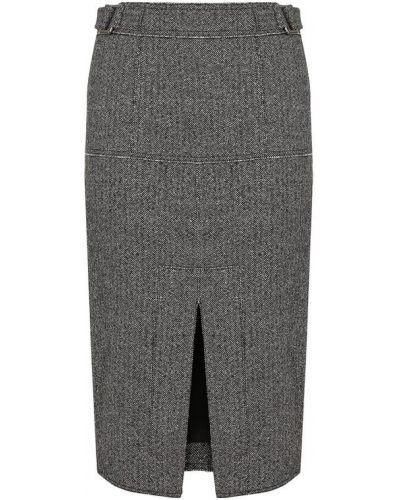 Юбка шелковая черно-белая Tom Ford