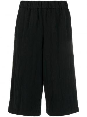 Черные шорты эластичные из вискозы Barena