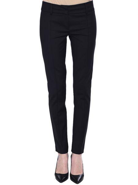 Черные брюки хлопковые Patrizia Pepe