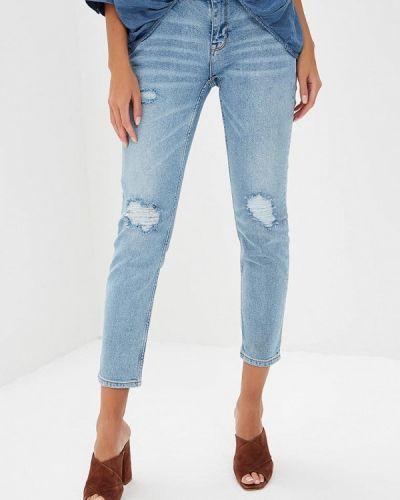 Синие джинсы бойфренды Colin's
