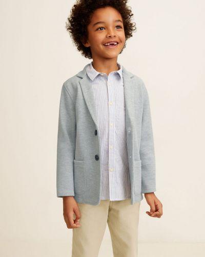 Пиджак в клетку светло-серый Mango Kids