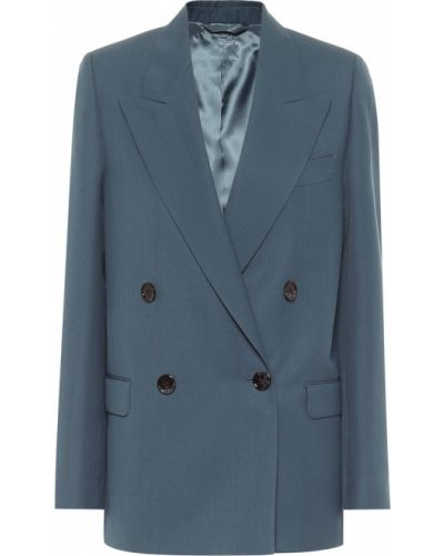 Шерстяной синий пиджак двубортный Acne Studios