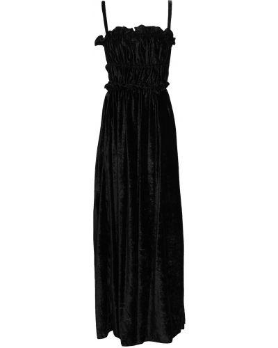 Czarna sukienka długa z wiskozy Alexachung