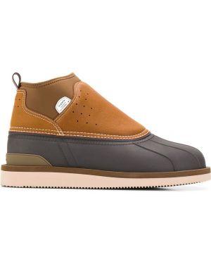 Коричневые ботинки на каблуке Suicoke