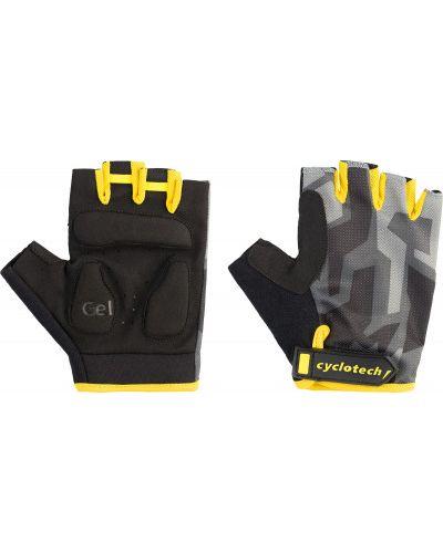 Кожаные перчатки нейлоновые черные Cyclotech
