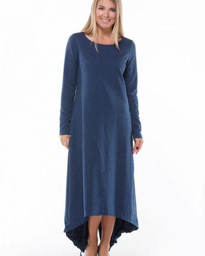 Прямое синее платье Lada Kalinina