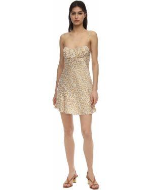 Платье мини атласное - желтое Bec & Bridge