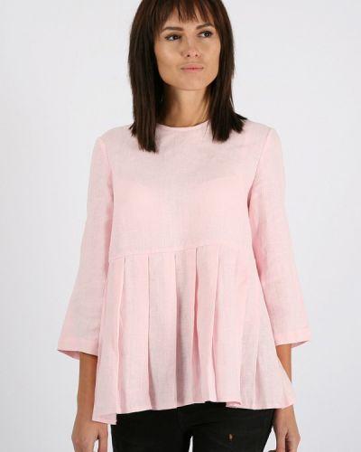 Розовая с рукавами блузка Morandi