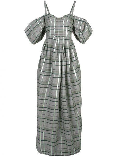 Вечернее платье с открытыми плечами - серое Rosie Assoulin