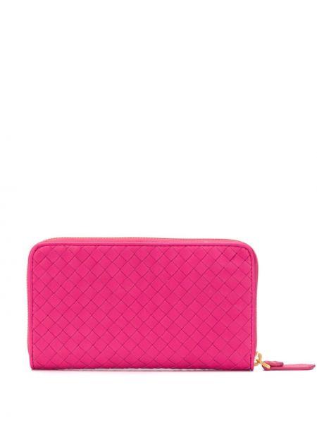 Кошелек на молнии розовый Bottega Veneta
