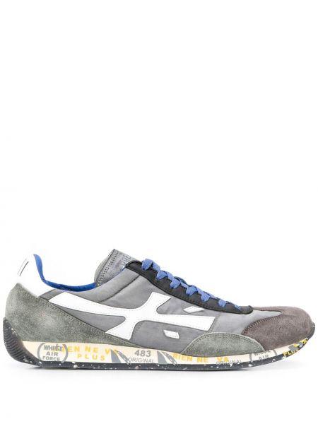 Skórzane sneakersy z logo sznurowane Premiata