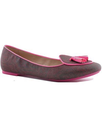 Розовые кожаные туфли Etro