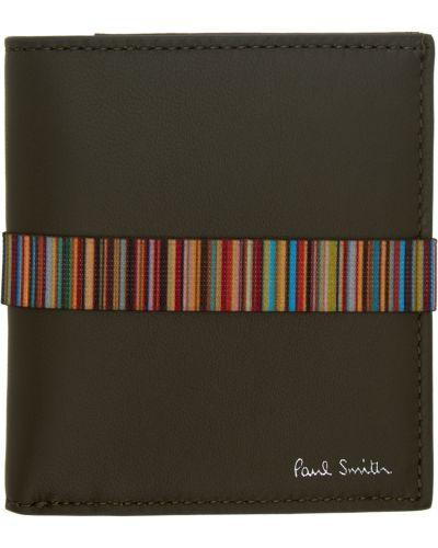 Portfel srebrny - zielony Paul Smith
