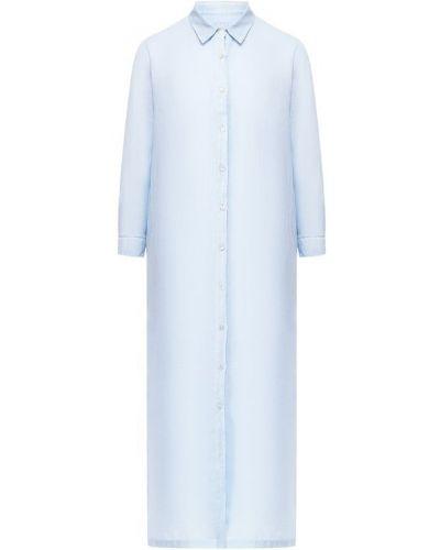 Льняное платье - голубое 120% Lino