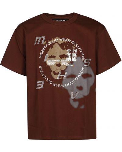 Brązowa t-shirt Misbhv