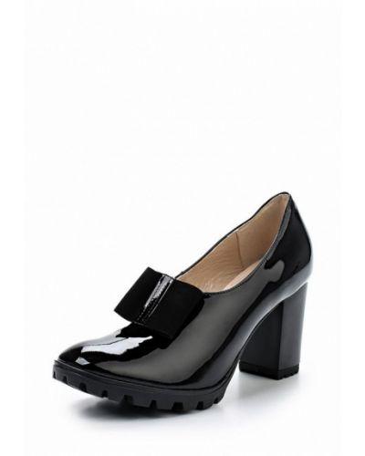 Кожаные туфли на каблуке осенние Bosccolo