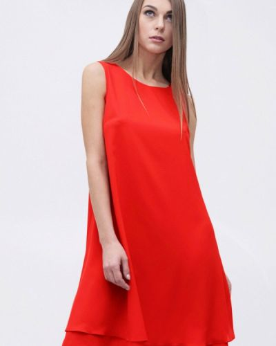 Платье осеннее красный Friday By Katarina Martova