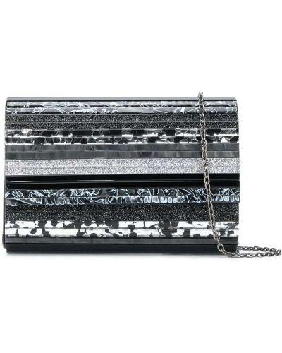 С ремешком черная сумка на цепочке в полоску Kurt Geiger London