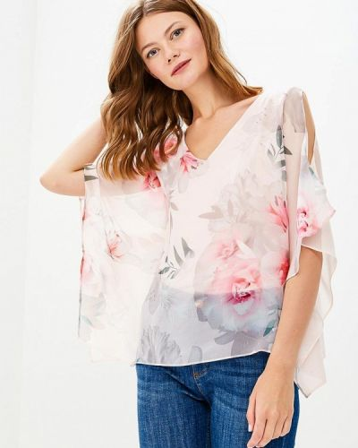 Розовая блузка с коротким рукавом Wallis