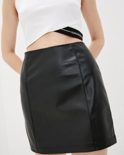 Джинсовая юбка - черная Calvin Klein Jeans