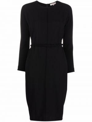 Czarna sukienka długa z długimi rękawami Antonelli